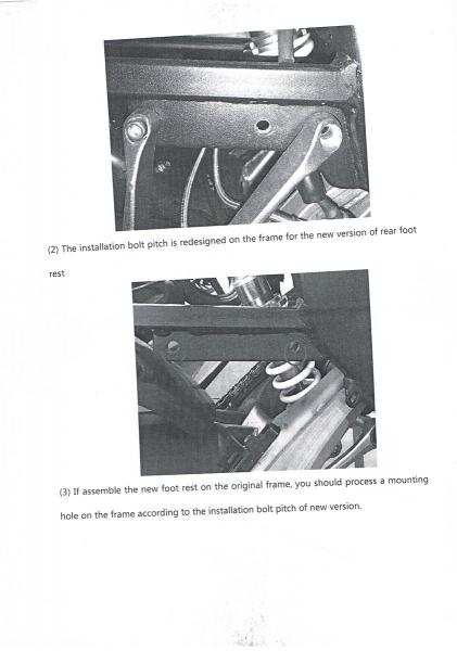 Sachs ZX125 ZZ125 ZZ50 4Takt ab 2013 Rastenhalter Fussraste rechts ...